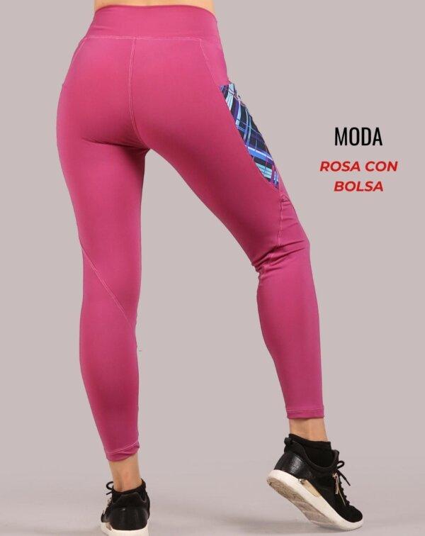 Leggings moda - Rosa con Bolsa