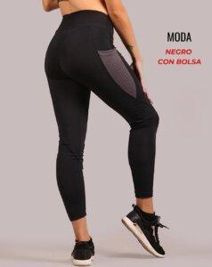 Leggings moda - negro con bolsa - foto02