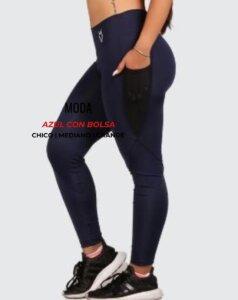Leggings moda - azul con bolsa - foto06