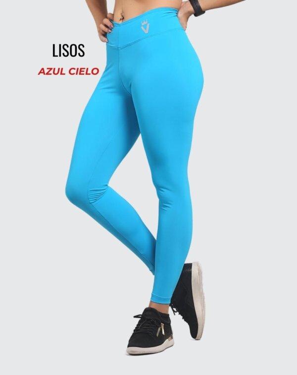 Leggings lisos - Azul Cielo - foto03