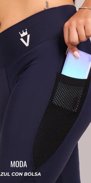 Leggings moda - azul con bolsa - foto05
